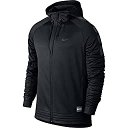 Nike Mens Elite Stripe Basketball Hoodie Sweatshirt, Black/Anthracite, X-Large