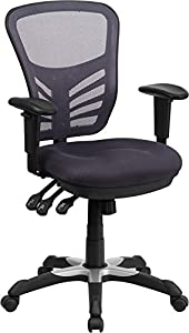Flash Furniture Mid-Back Mesh Chair with Triple Paddle Control