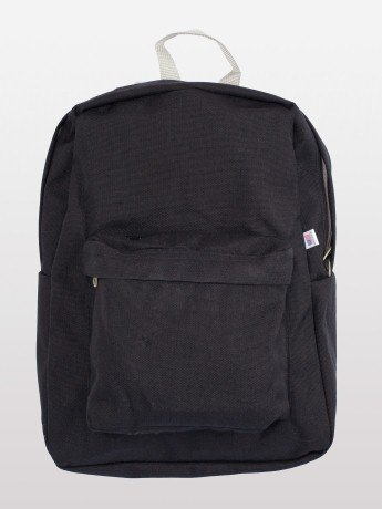 American Apparel Nylon Cordura® School Bag -Black / Silver