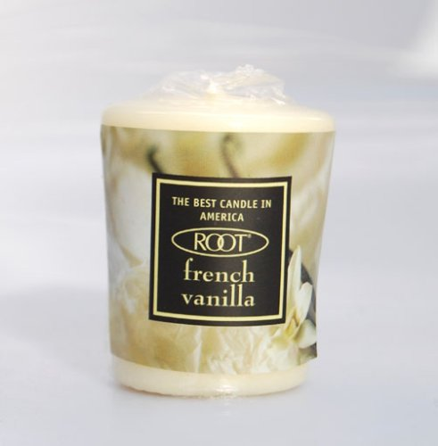 Root 20 Hour Votive Candles, French Vanilla Scent, Ivory, 18-Pack Box