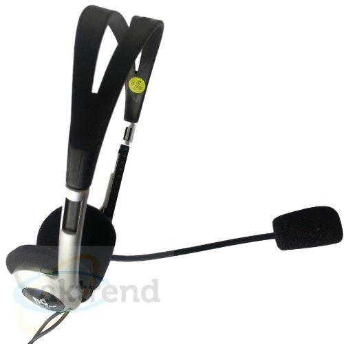 AKTrend® - Headset Skype MSN Messenger VoIP AOL Inear Kopfhörer mit Mikrofon PC Laptop NEU