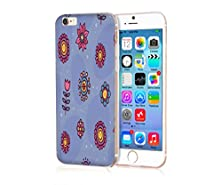 buy Mypolaroid Iphone 6S Case [Non-Slip] [Perfect-Fit] [Scrath-Resistant] Surface With Excellent Grip Hard Case For Iphone 6S (4.7) (2015)(New)--Slightly In Purple Bottom And Freshing Pattern