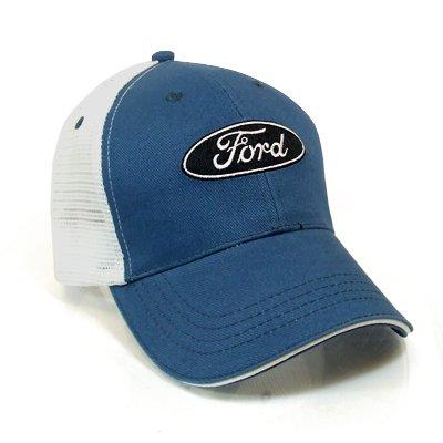 Ford Logo Blue Mesh Baseball Cap Official Homaononoeraeraa