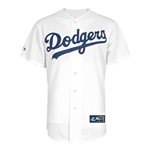 MLB Los Angeles Dodgers Home Replica Baseball Youth Jersey, White by Majestic