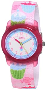 Timex Kids' T7B886 Analog Cupcakes Elastic Fabric Strap Watch