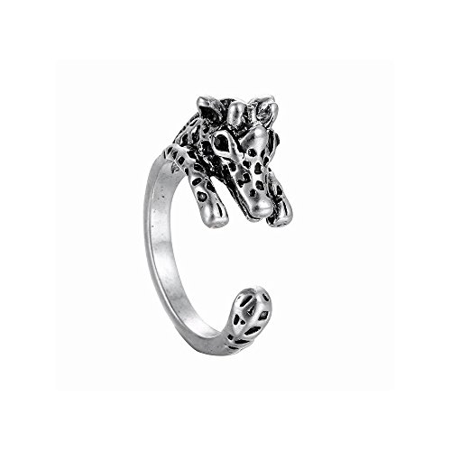 Winter's Secret Creative Alloy Opening Animal 3D Giraffe Restoring Unisex Ancient Silver Ring (Red Tube Sex Videos compare prices)