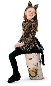 Princess Paradise Cat with Ears, Tail and Bowtie Child Costume Brown Large (10)