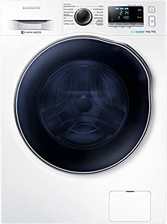 Samsung WD80J6410AW machine à laver avec sèche linge - machines à laver avec sèche linge (Charge avant, Autonome, Blanc, Gauche, A, Soin pour bébé, Coton, Main/laine, Intensif/extérieur, Pré-lavage,