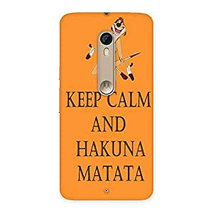 Impressive HKN MTT Orange Back Case Cover for Motorola Moto X Style