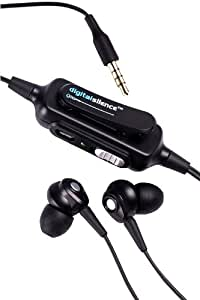 Digital Silence DS101A Noise Cancelling Earphones / Headphones with Mic (Black)