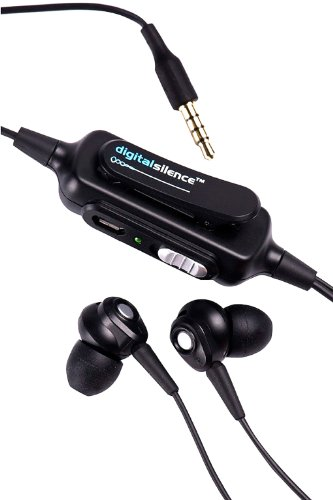 Digital Silence Ds-101A Stereo Analogue Ambient Noise Cancelling Headset With Microphone - Black