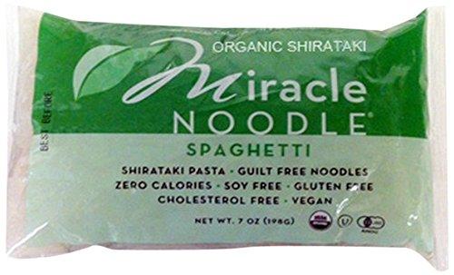 Miracle Noodle Shirataki Zero Carb, Gluten Free Pasta, Organic Spaghetti, 7 Ounce (Pack of 6) (Spaghetti Shirataki compare prices)