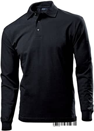 G136-AC-B - Hanes Polo T-shirt for Men - Top Polo Long Sleeve Comfort Fit 100% Cotton