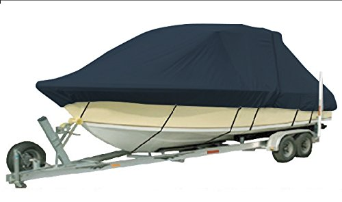 Vehicore Heavy Duty T-top Hard Top Boat Cover for Mako 234 CC Navy