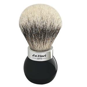 Da Vinci Series 290 Uomo Shaving Brush Silvertip Badger Hair Globe Handle with Shower Holder, 25 Mm, 414.7 Gram