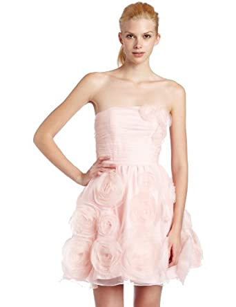 Betsey Johnson Womens Strapless Dress, Pink, 8