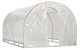 Greenhouse-Weatherguard Walk In Arched Top Garden Hot House Fully Enclosed - Screend Windows for Ventilation, Zippered Door (8\'W x 12\'L x 6\'6\