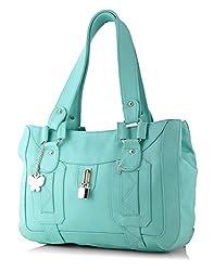 Butterflies Women's Handbag (Light Blue) (BNS 0375 LBL)