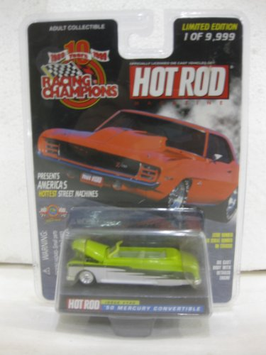 1950 Mercury Convertible Issue #140 In Lime Green Diecast 1:64 Scale Hot Rod Magazine By Racing Champions - 1