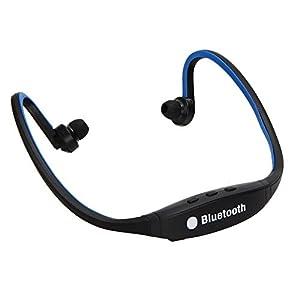 Wireless Bluetooth Headset Stereo Headphone Sport Earphone Handfree for iPhone (Blue)