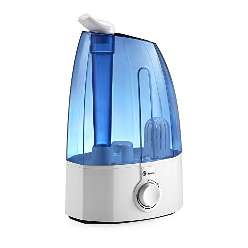 Cool Mist Humidifier, TaoTronics Ultrasonic Air Humidifers with 2x 360 Degree Rotatable Mist Outputs, Classic Dial Knob Control, 3.5L Large Capacity, Low Water Protection, UPGRADED VERSION (Humidifiers compare prices)