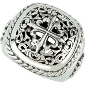 Sterling Silver Design Ring Size 7
