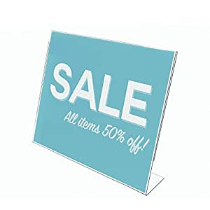 "Deflecto Classic Image Slanted Sign Holder, 11"" x 8.5"" (66701)"