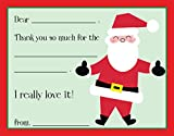 Santa Claus White Beard Kids Fill-in Birthday Thank You Cards