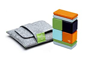 8 Piece Tegu Pocket Pouch Magnetic Wooden Block Set, Nelson