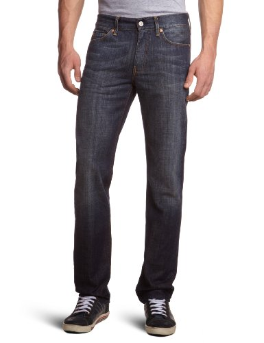 7 For All Mankind Men's SNSLMNNYD Slim and Skinny Jeans Blue NYD New York Dark 34/34
