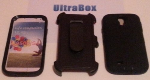 Ultrabox Guardian Series Phone Case For The Samsung Galaxy S4 (Black) ** Compare To Otterbox Defender **