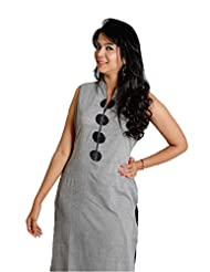 Manjushree Wear Women's Embroidered Kurta - B00QWN3A0Q