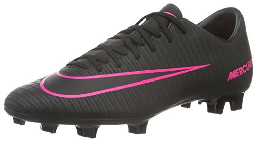 Nike Mercurial Victory Vi Fg, Scarpe da Calcio Allenamento Uomo, Nero (Schwarz/Schwarz/Pink), 47