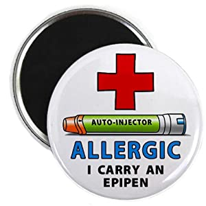 ALLERGY ALERT I Carry an EPIPEN Green Medical Alert 2.25 inch Fridge Magnet by Creative Clam