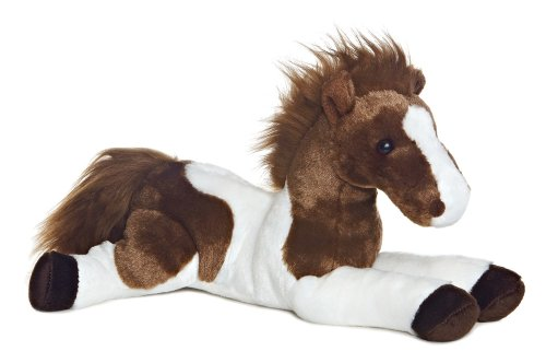 Aurora Unisex Tola The Plush Paint Horse Brown One Size - 1