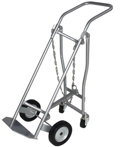 Milwaukee Hand Trucks 40767 Medical Cylinder Truck 1 Gas Cylinder With Retractable Casters front-385067