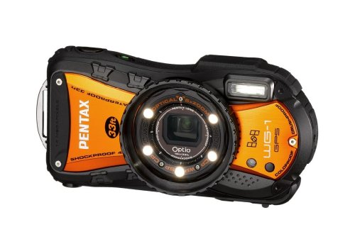 Pentax Optio WG-1 GPS Digital Camera - Orange (14MP, 5x Wide Angle Optical Zoom)  2.7 inch LCD