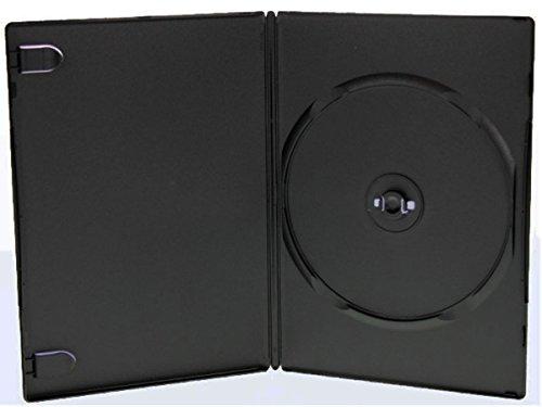 25 Stück DVD-Hüllen für 1 DVD/CD Kunststoff schwarz mit Folie für Cover 7 mm Neuware