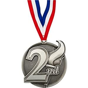 Amazon.com : 2nd Place Medal with Ribbon : Sports & Outdoors