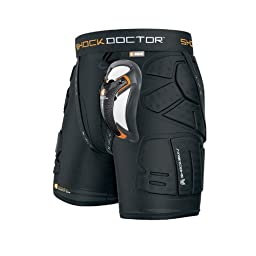 Shock Doctor Shockskin Lax Relaxed Fit Impact Short (Black, Men\'s X-Large)