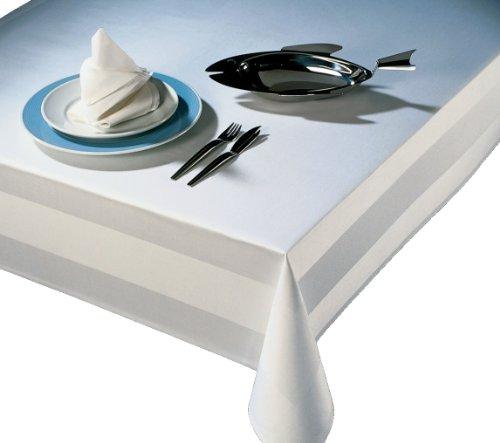Tischdecke 100x140 cm - Vollzwirn Damast weiß 100% Baumwolle