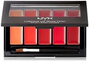 NYX Lip Gloss Palette, Red Rediscovered, 0.26 Ounce