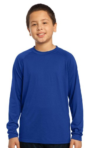 Sport-Tek Youth Soft Long Sleeve Performance T-Shirt_True Royal_Medium front-658431