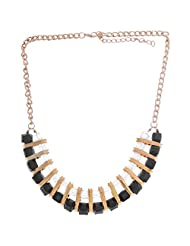Nimble Multi Colour Metal Chain Necklace Set For Women - B00XVMMHT6