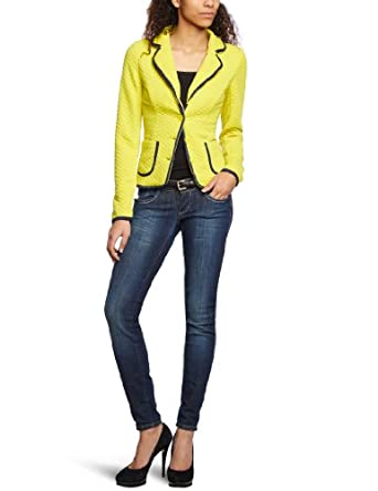vero moda blazer femme jaune celery detail dark navy edges fr 38 taille fabricant. Black Bedroom Furniture Sets. Home Design Ideas