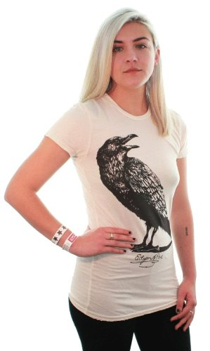 Edgar Allan Poe'S The Raven Women'S Vintage T-Shirt/Tee By Dsc - Medium front-158258