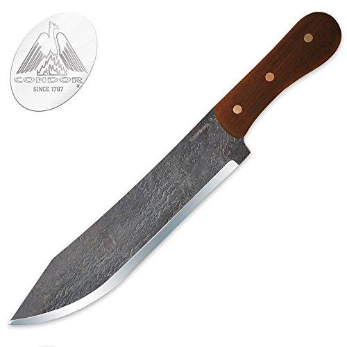 Condor Tool & Knife CTK240-8.5HC Hudson Bay, Hardwood Handle, Black Blade, Plain