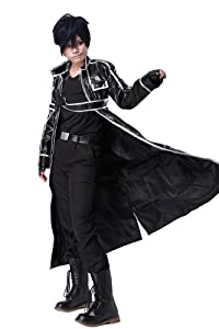 SAO Kirito Pleather Cosplay Outift Costume in Medium