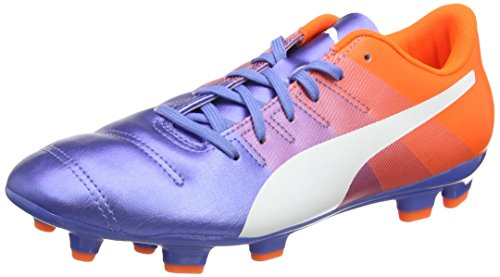 PumaevoPOWER 4.3 FG - Scarpe da Calcio Uomo , Multicolore (Mehrfarbig (Blue Yonder-puma White-SHOCKING Orange 03)), 41