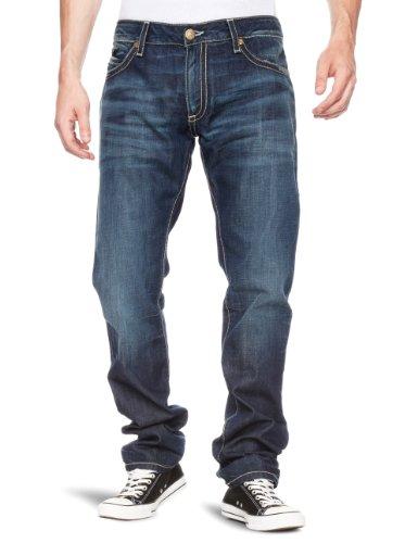Robin's Jean Leather Long Flap Skinny Men's Jeans Dark W30INxL30IN